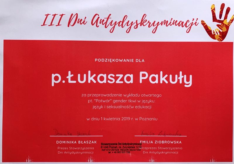 3rd Days of Antidiscrimination, Poznań