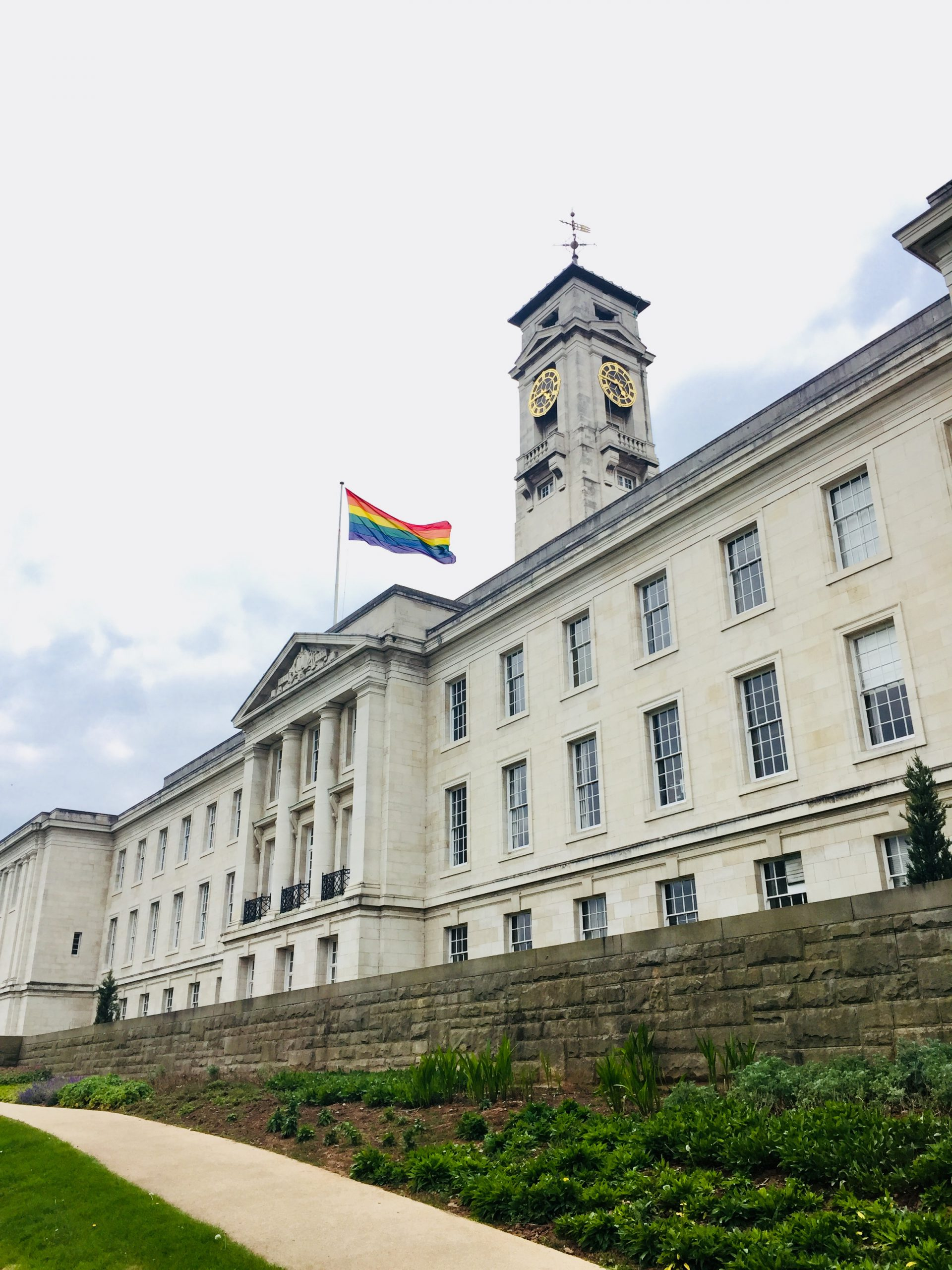 rainbow flag and nottingham uni