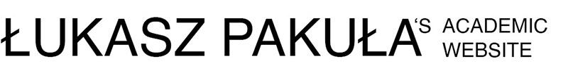 Łukasz Pakuła's academic website Logo